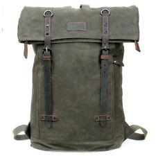 Troop Waxed Canvas Laptop Rucksack Green TRP0425:  Bag Backpack