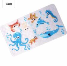 Warrah None-Slip Tub Kids Bath Mat - Premium Square Anti-Slip Shower Mat