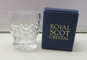 Royal Scot Crystal Tot Glass