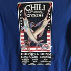 Guy Harvey Chili Cookoff Shirt Womens M Patriotic Stars Stripes Country Music