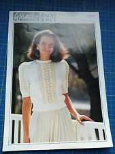 Wendy Lady's Sweater with Lace Pannels Knitting Pattern 3863