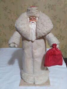 USSR Vintage Soviet Christmas New Year's Toy Ded Moroz Santa Claus Cotton OLD