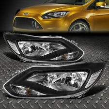 FOR 2012-2014 FORD FOCUS GEN3 PAIR BLACK HOUSING CLEAR CORNER HEADLIGHT/LAMP
