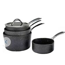 Argos Home 4 Piece Rock Effect Non Stick Aluminium Pan Set.