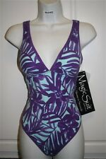 NWT Women's MAGICSUIT by Miraclesuit one piece SWIMSUIT Size 12 Free Shipping