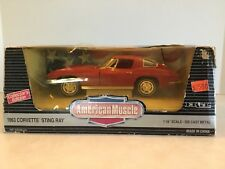 ERTL- American Muscle 1963 Corvette Sting Ray 1:18 1994 Collector Edition N.I.B.