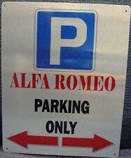 Alfa Romeo Parking Only Aluminium Wall Hanging Sign Italian Classic car
