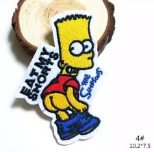 Bart Simpson's Funny Embroidered Iron On Patch Appliqué