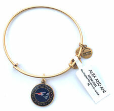 * NEW * N. E. PATRIOTS NFL LICENSED ALEX AND ANI SUPER BOWL BANGLE GOLD FINISH
