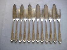 Wilkens Dresdner Barock Fischbesteck für 6 Per. aus 800`Silber mit Mono
