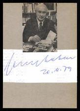Georg Leber Karteikarte Original Signiert ## BC 32135