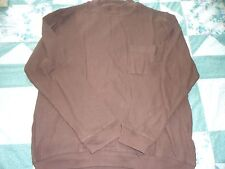 NEW men's size Large Brown Ribbed Sweat Shirt from Haband