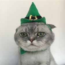 Santa Christmas Hat Cat Outfit Costume Pet Collar Party Adorable Pet Costume KV