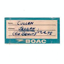 BOAC Airways - Airline Baggage Sticker