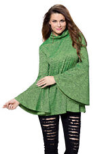 Green Flared Bell Sleeve Knit Blouse Size M