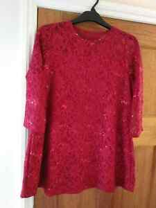 Red Sparkly Top size 16