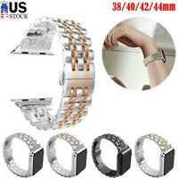 Stainless Steel Watch Band Strap For Apple iWatch Series SE/6/5/4/3/2/1 38-44mm