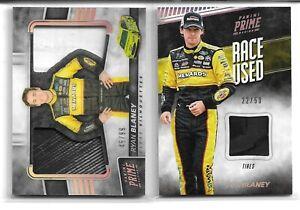 2 CARD NASCAR PANINI RYAN BLANEY RACE USED FIRESUIT TIRE RELIC LOT