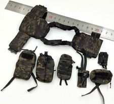 1/6 Scale Seal Team Navy Special Forces SIX-HALO Weapon Combat Vest + Packages