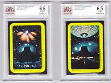 CLOSE ENCOUNTERS OF THE THIRD KIND--Lot of 2 Graded Stickers/BVG 6.5 EX-MT+*