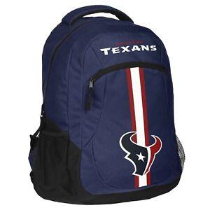 Houston Texans Logo Action BackPack School Bag Back pack Gym Travel Sports Book