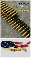 "❶❶1/6 scale 7.62 caliber(20PCS) metal machine bullet chain For 12"" figure USA❶❶"