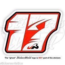 JULES BIANCHI 17 Red Formula 1 F1 100mm Sticker Adesivo Aufkleber Autocollant