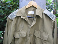 ISRAEL IDF ARMY-GOLANI BRIGADE L FIELD CAPTAIN OFFICER SHIRT W/RANKS,ZAHAL SIGNS