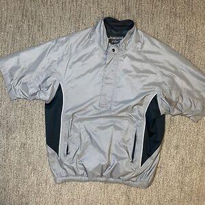DryJoys FootJoy Mens L Short Sleeve Wind Rain Shirt Golf Jacket Pullover 1/4 Zip