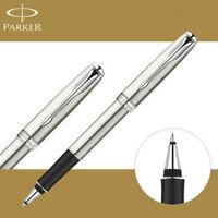 Good Parker Sonnet Series Steel Color Silver Clip 0.5mm Fine Nib Rollerball Pen