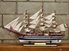 "35"" Italian Training Ship Amerigo Vespucci Model Ship; Wooden Navy Barques Model"
