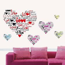 Love Heart Removable Vinyl Art Wall Sticker Decal Mural DIY Bedroom Home Decor