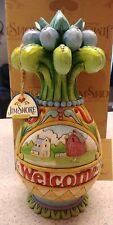 Enesco Jim Shore Heartwood Creek Welcome To Our Story Pineapple With Scenes Nib