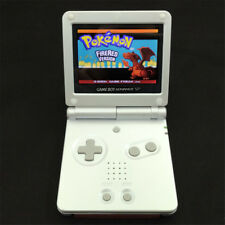 White Game Boy Advance GBA SP Console AGS 101 Brighter Backlit + Game Card