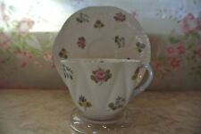 """Vintage Shelley """"Rose Pansy Forget Me Not """" Tea Cup & Saucer 13424"""