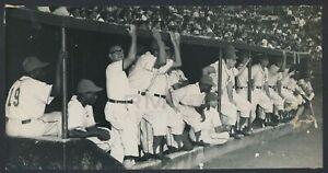 "1953 Havana Baseball Club, ""Rare Look into the Cuban Dugout"" Vintage Photo"