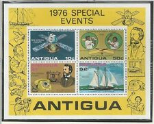 ANTIGUA # 458a MNH 1976 OUTSTANDING ACHIEVEMENTS Telephone, Sailing, Sheet