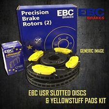 EBC 285mm REAR USR SLOTTED BRAKE DISCS + YELLOWSTUFF PADS KIT SET PD08KR276