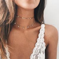 Choker Chooker Halskette Gold Modeschmuck Schmuck Blogger Strass Boho Sterne