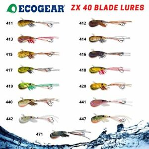 Ecogear ZX40 Fishing Blade Lure Bream Bass Trout Prawn Vibe Hard Body Metal UV