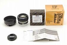 【Unused】Nikon AI-S Nikkor 50mm F1.2 AIS MF Lens + HS12 Hood from Japan