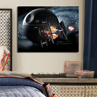 Star Wars Stretched Canvas Print Framed Wall Art Kid Nursery Decor Painting Gift