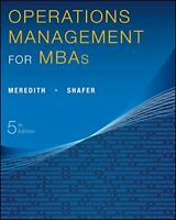 Operations Management for MBAs by Shafer, Scott M. Book The Fast Free Shipping