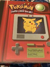 Rare New Old Stock Pokemon Pikachu 3 Ring Binder 1998 Nintendo Collectors Dream