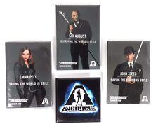 "1997 ""The Avengers  Movie Promo Button Set of 4- Sean Connery/Uma Thurmon(M5301)"