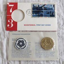Medalla Conmemorativa Usa 1973 Bicentenario primer día cubierta 38mm-Paquete Sellado