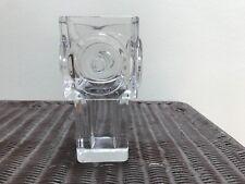 """Vintage Bengt Edenfalk Post Modern Crystal Vase 6.5"""""""