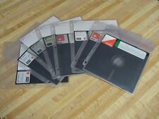 8 inch floopy disk lot of 8 disks soft sector 3 ring binder plastic sleeve