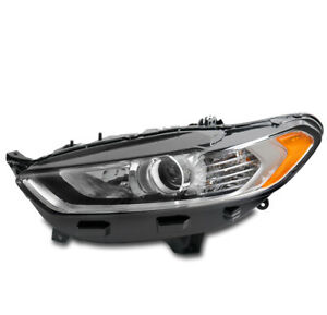 For 13 14 15 16 Ford Fusion Projector Headlight Headlamp Chrome Driver Left Side