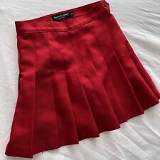 American Apparel Pleated Tennis Skirt Red Small Made In USA